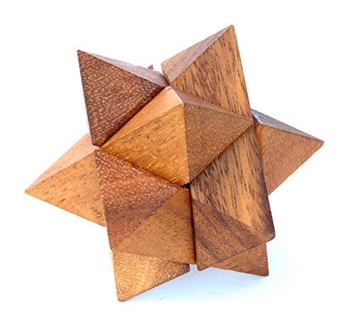 LOGICA GIOCHI Art. Estrella Polar - Rompecabezas 3D de Madera Preciosa - Dificultad 3/6 Difícil - Colección Leonardo da Vinci (Medio)