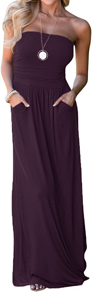 Ofenbuy Womens Off The Shoulder Dresses Max 66% Max 90% OFF OFF Strapless Summer Maxi Ba