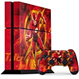 Skinit Decal Gaming Skin for PS4 Console and Controller Bundle - Officially Licensed Warner Bros Ripped Flash Design