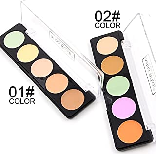 Inspired Capital L 5 Color Cosmetics Cream Concealer Contour and Correct Cream Kit - Contouring Foundation/Concealer Palette - Vegan, Cruelty Free & Hypoallergenic (1)