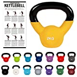 Kettlebell Professionale 2 - 30 kg | Ghisa Revestimento in Neoprene | incl. Workout PDF | diversi colori (Kettlebell Professionale 2 kg | Ghisa Revestimento in Neoprene | incl. Workout PDF | Giallo)