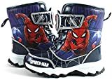 Joah Store Spider-Man Action Boys Light Up Winter Blue Warm Snow Boots (Parallel Import/Generic Product) (8 M US Toddler)