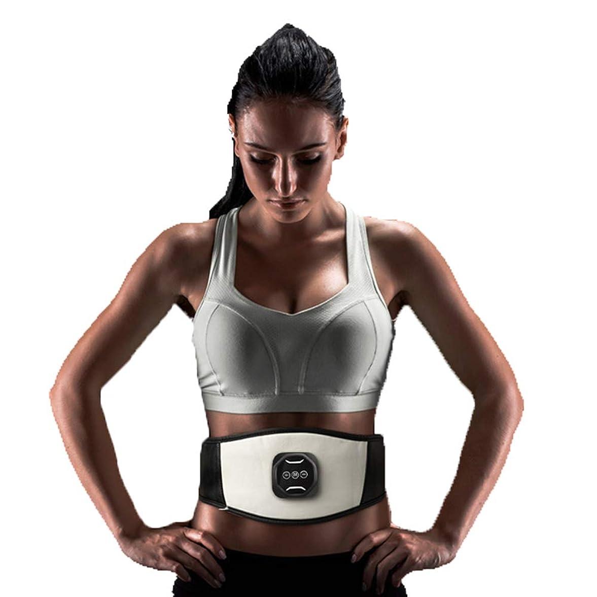 王女力スポーツの試合を担当している人スマートワイヤレス腹筋ペーストEMS筋肉刺激装置薄い腹部腹部マシンUSB電気ベルト腹部機器全身体重減少運動フィットネス機器ユニセックス