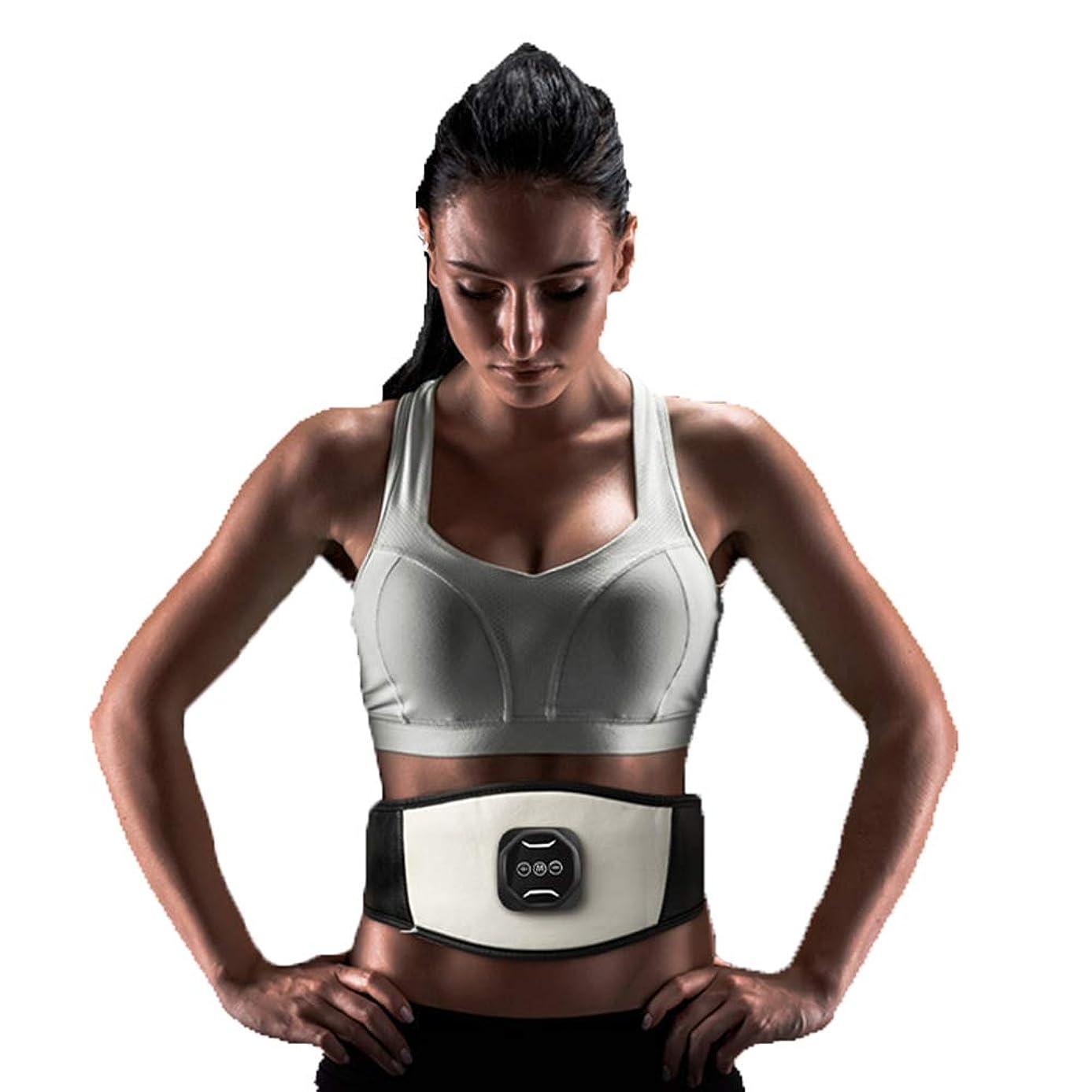 健康的バンケット奨励しますスマートワイヤレス腹筋ペーストEMS筋肉刺激装置薄い腹部腹部マシンUSB電気ベルト腹部機器全身体重減少運動フィットネス機器ユニセックス