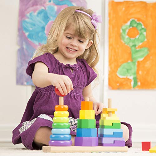 Melissa and Doug Geometric Stacker Toddler Toy