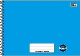 Caderno Cartografia e Desenho Pepper Azul 80 folhas,Tilibra - 1 un