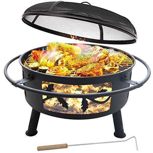Outdoor Fire Pit with Cooking Grate