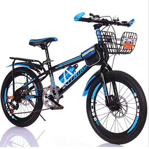 Muyu Kinderfiets, 20,22 inch, 7 snelheden, kinderfiets, mountainbike, dubbele schijfrem voor meisjes en jongens vanaf 8 jaar