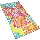 EXking Muscheln und Blumen Bedrucken Handtücher Extra große Handtücher Schnelltrocknende Handtücher für das Gesicht, leicht