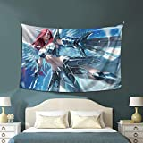 Fairy Tail Tapestry Erza Scarlet Anime Tapestry Bedroom Decoration/Living Room Decor 60x40in