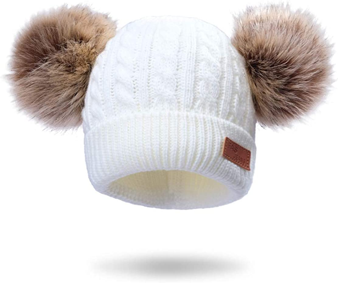 Children Elegant Baby Hat Kids Toddler Winter Virginia Beach Mall Hats Fur Wool Beanie Warm