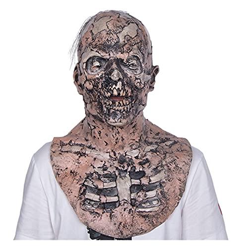 WWWL Mascara de Halloween Mascarilla de Miedo Halloween Halloween Zombie Sangriento Aterrador Látex Face Cara Coloreado Partido Cosplay Poschief Prop (Color : X14049, Size : M)
