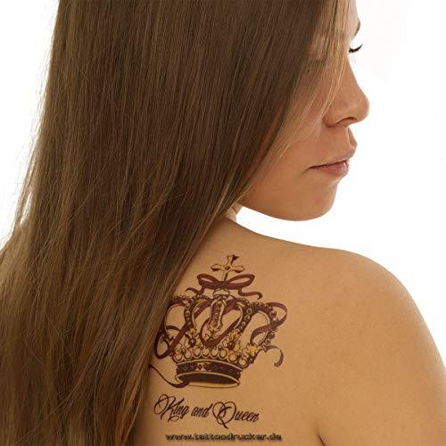 1 x 3 Kronen Set als buntes Body Temporary Fake Tattoo - QS-C030 (1)