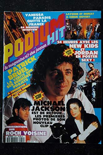 PODIUM HIT 239 DECEMBRE 1991 MICHAEL JACKSON VANESSA PARADIS ROCH VOISINE PATRICK BRUEL MARC LAVOINE ENZO ENZO