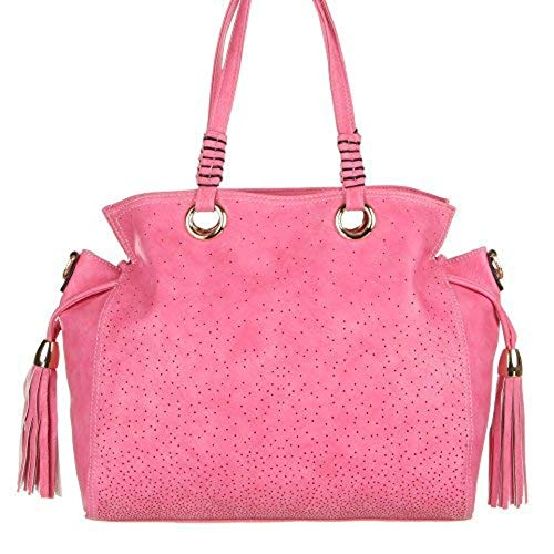 Handtasche - Schulterhandtasche Synthetik in hochwertiger Lederoptik TA-H-8021 Damen Handtasche Tasche Henkeltasche Schultertasche Umhängetasche (Fuchsia)
