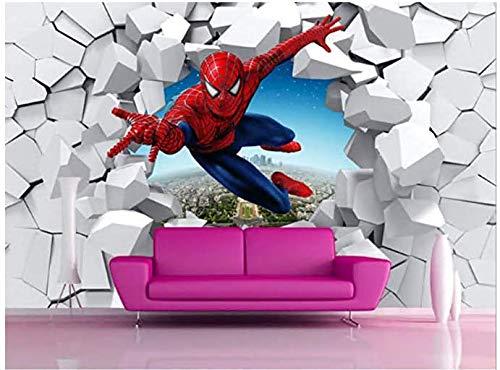 Spiderman Tapete Custom 3d Foto Tapete Super Hero Wandbild Jungen Schlafzimmer Wohnzimmer Kindergarten Schule Designer Zimmer Dekor Breite 200cm * Höhe140cm pro