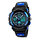 Kids Digital Sports Watches  Boys Childrens Teenagers Electronic Waterproof Outdoor Analogue Watch with Multi Function Stopwatch/Alarm/Timer/LED Light/Dual Time Zone/Chronograph/Calendar Date Window