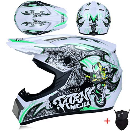 OLEEKA Casco de Moto Casco de Motocross Equipo de protección para Des