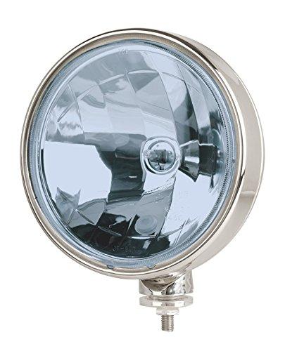 Euralight Fernscheinwerfer BLAU 211mm mit Standlicht 12 Volt und 24 Volt + Steinschlagschutzgitter~