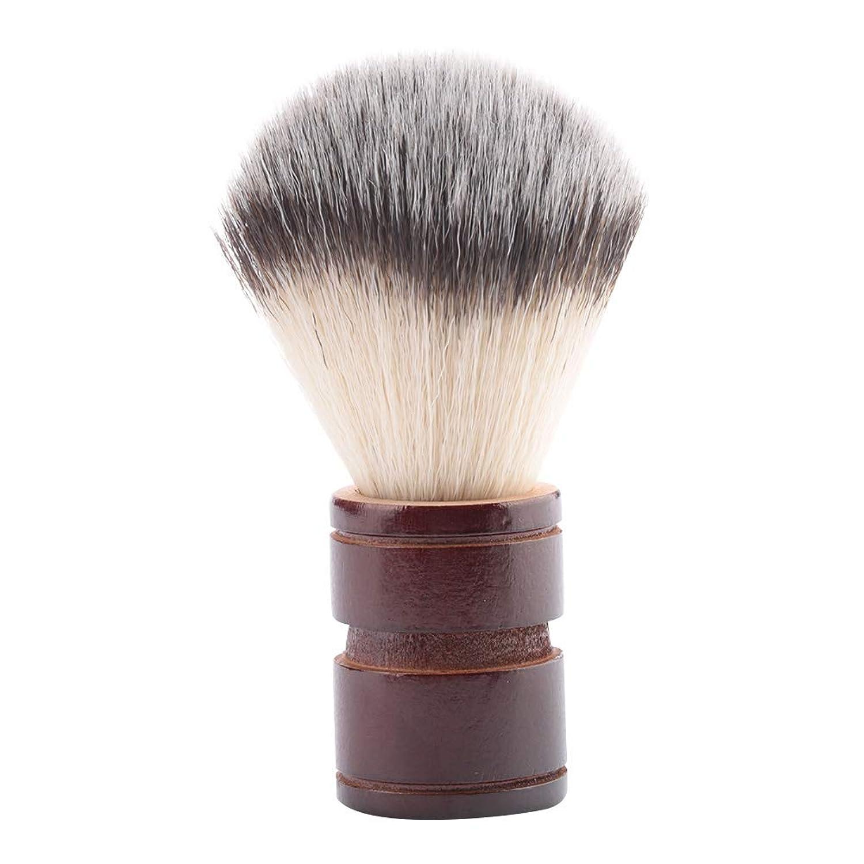 吐き出すトレイごちそうひげ剃りブラシ、男性のプロのひげブラシケアツールを使用することができますヘア美容院または家族製品はオプションの色(2 Colors)