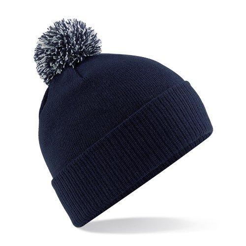 Beechfield Bonnet d'hiver junior Duo Snow Star/scolaire Habillement - bleu - Taille unique