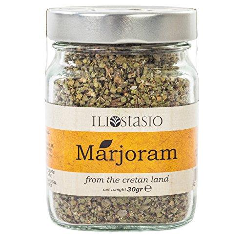 Premium Majoran aus Kreta (Griechenland) - Hochwertige Gewürze - Natürliche Kräuter - Glasdose