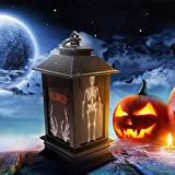 Shan-S Halloween LED Lamp Lights Home Decoration Creative Night Lights,Christmas Atmosphere Props Plastic Glowing Lamps Lighthouse for Patio Garden Gate Yard Home Bar- 3Pcs