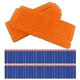 Yosoo® 2pz Riserva capacità da 12 Dardi Quick-Reload Clip Caricatore con 60 Pezzi 7,2cm ...