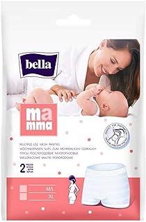 bella Mamma Wöchnerinnen Slips Größe M/L, 80 - 120cm, 4er Pack 4 x 2 Slips, elastisch, weich und hautverträglich