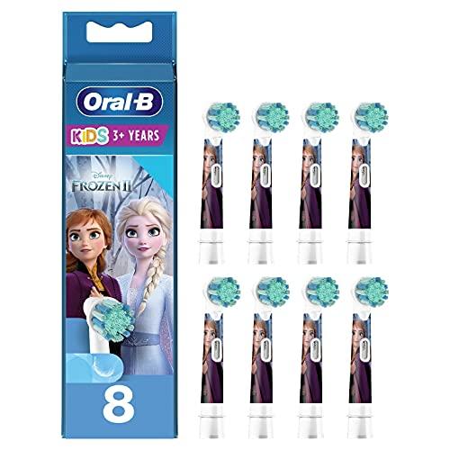 Oral-B Testina Di Ricambio per Spazzolino Kids Frozen, Confezione Da 8