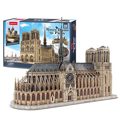 BENPAO Kits de Modelos de Arquitectura 3D Puzzle Challenge para Adultos, como Regalos de Pasatiempos, Notre Dame de Paris Francia