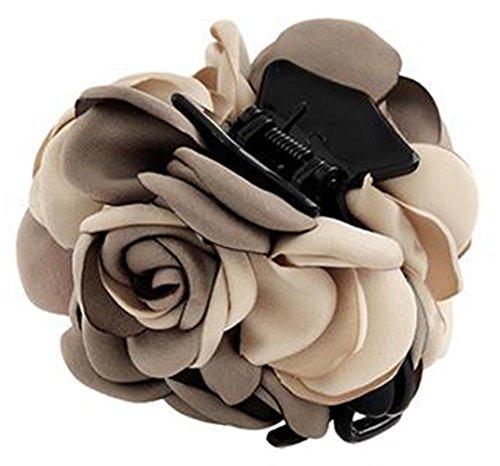 Fleurs/cheveux Barrette pince à cheveux pour les femmes/Lady/Girls Hair Ornament, marron # 24