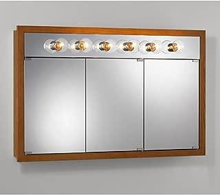 Jensen Medicine Cabinet Granville Tri-View 6-Light 48W x 30H in. Surface Mount Medicine Cabinet