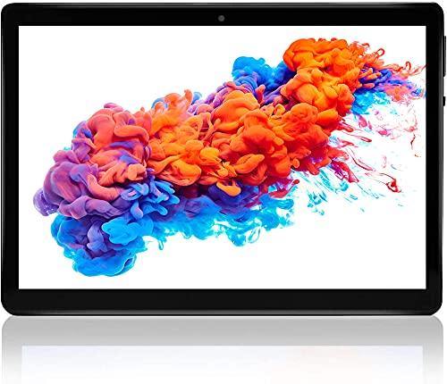 Tablet 10.1'' Pulgadas Android 10 Tableta 4GB+64GB, TF 128GB con Certificación Google, Dual SIM/GPS/Bluetooth/Type-C
