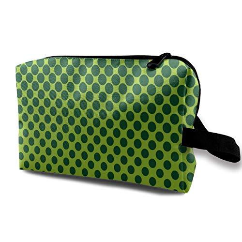 Circles Green Texture Wallpaper Kosmetische Aufbewahrungstasche wasserdichte Frau für Reisetasche Customized