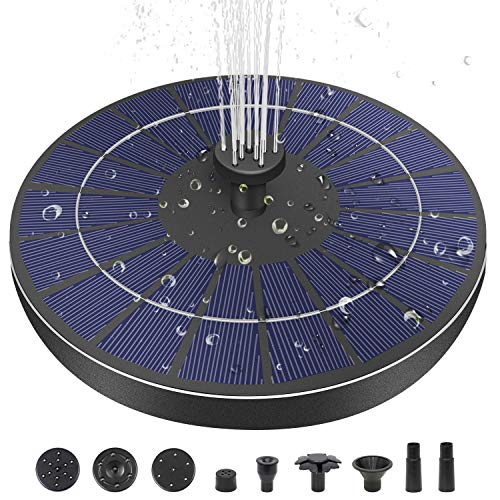 MADETEC Upgraded 3.5W Solar Fountain Pump with 1500mAh Battery Backup, 6 Nozzles Solar Powered Fountain Pump for Birdbath, Outdoor Floating Solar Water Fountain for Small Pond, Pool, Fish Tank, Garden