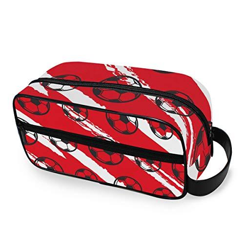CPYang Reise-Kulturtasche Sport Fußball Tornetz Tragbare Kosmetik Make-up Tasche Dopp Kit Rasiertasche für Männer und Frauen