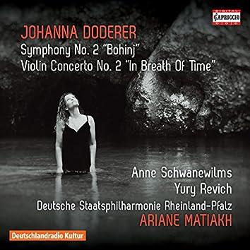 """Doderer: Symphony No. 2, DWV 93 """"Bohinj"""" & Violin Concerto No. 2, DWV 62b """"In Breath of Time"""""""