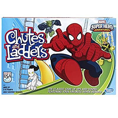 Hasbro Gaming Marvel Spider-Man Web Warriors Chutes & Ladders Game by Hasbro