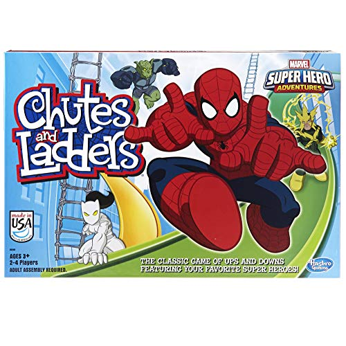 Hasbro Gaming Marvel Spider-Man Web Warriors Chutes & Ladders Game (Amazon Exclusive)