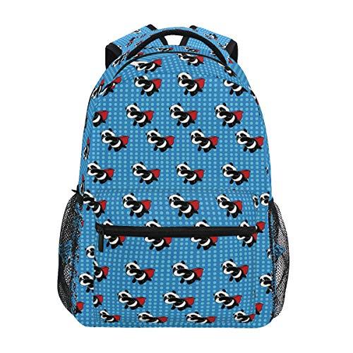 Qilmy Panda Backpack for Girls Student School Bookbag Laptop Computer Travel Daypack, Dark Blue