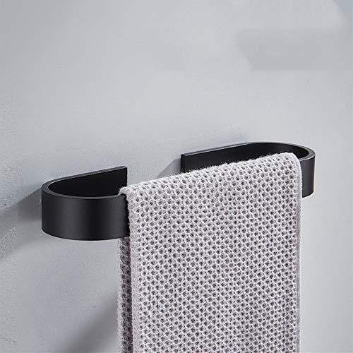 Melairy SUS304 Edelstahl Handtuchring Matt Schwarz Wandmontage Badezimmer Handtuchhalter Stange Rack für WC Und Bad Schwarz (30CM)