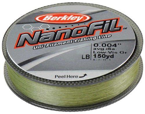 Berkley NanoFil Uni-filament Fishing Line, 12 Pound Test-150 Yard, Low-Vis Green