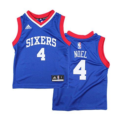 Philadelphia 76ers nerlens noel # 4NBA niños Little Boys Away réplica de la camiseta–Azul, Azul