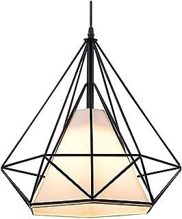 xiamenchangketongmaoyi Lampara De Techo Colgante Lampara Techo Cristales Colgantes Sombras Negras para Techo Lámpara Industrial Vintage Luces de Techo Negro Luces de Techo Black