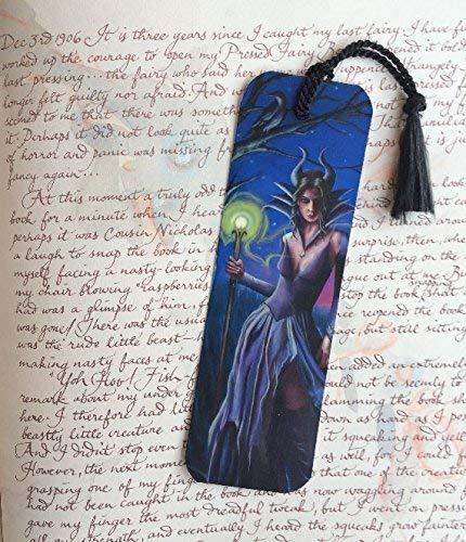 Maleficent Bookmark Sleeping Beauty Bookmark Fairy Tale Bookmark Fantasy Art Bookmark Sorceress Bookmark