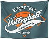 Etiqueta con pelota y flechas para voleibol Juego deportivo Ropa...