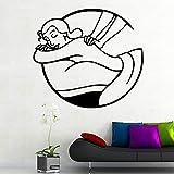Sexy mujer salón de spa moderno arte interior decoración de pared para habitación de niños decoración del hogar mural pegatinas de pared A9 XL 57 cm X 63 cm