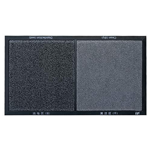 Felpudo desinfectante Exterior, Alfombra Antideslizante para Puerta de Entrada, Alfombrilla Impermeable de fácil Limpieza (45x80 Negro)
