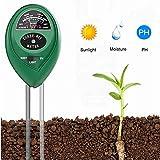 Soil PH Meter Soil Moisture Sensor 3-in-1 Soil Moisture/Light/pH Test Kit for...